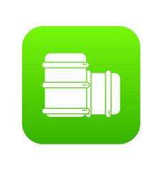 Paintball barell equipment icon green vector