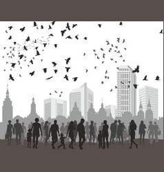 People city and natur vector
