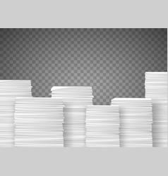 Piles paper documents paperwork in office vector