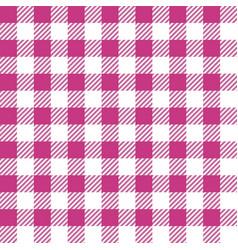 Pink lumberjack seamless pattern vector