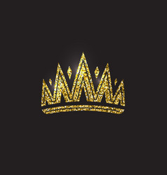 queen crown royal gold headdress king golden vector image