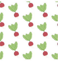Radish seamless pattern vector