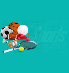 Recreation leisure sports equipment vector