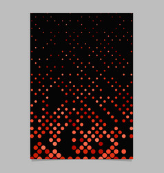 Red abstract dot pattern brochure background vector