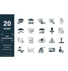 Risk management icon set include creative vector