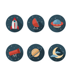 Set of icons for space vector