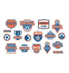 set template emblem for soccer team vector image