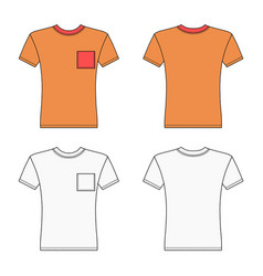 Short sleeve t-shirt outlined template vector
