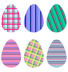 striped eggs vector image
