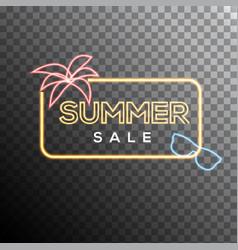 Summer sale neon effect vector