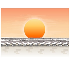 Sunlight over roof vector
