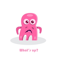 Text with funny monster vector