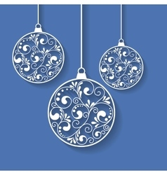 xmas paper balls vector image