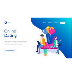 young girl and a guy chatting sitting on a heart vector image
