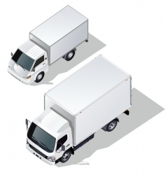 delivery truck set vector image