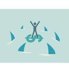 financial risk icon vector image