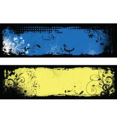 floral grunge backgrounds vector image