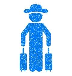 Gentleman Passenger Grainy Texture Icon vector image vector image