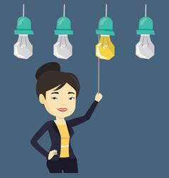 woman having business idea vector image