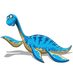 Blue dinosaur with long neck vector