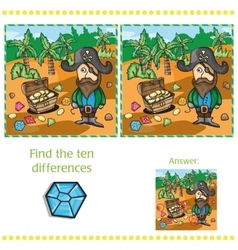 Game for children - find ten differences vector