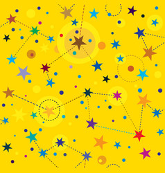 golden stars seamless pattern swatch background vector image