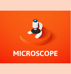 microscope isometric icon isolated on color vector image vector image