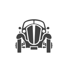 Old Car Isolated on white background icon vector image vector image