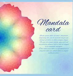 polygonal mandala card color circle vector image vector image