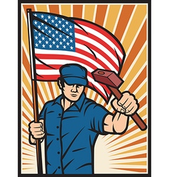 usa worker holiday vector image vector image
