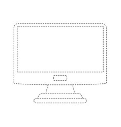 computer screen isolated vector image vector image