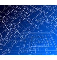 House plan blueprint vector image vector image