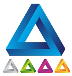 infinite triangular ring vector image