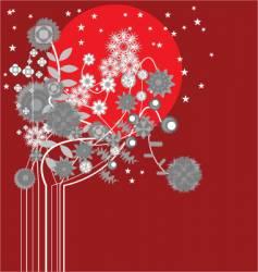 midnight flowers vector image