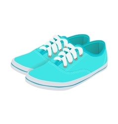 Blue running shoes vector image
