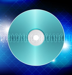 disk technology concept background vector image vector image