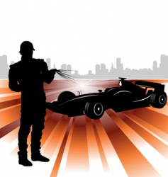 formula and race car vector image vector image