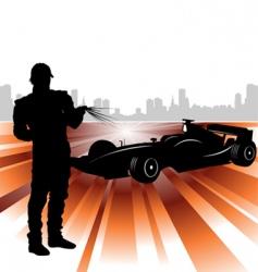 formula and race car vector image