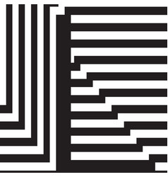 letter l design template vector image