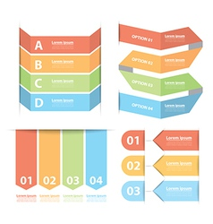 Option banner infographics set vector image vector image