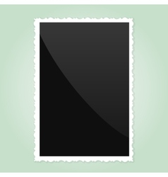 Retro Photo Frame On green Background vector image