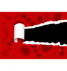 torn party paper vector image vector image