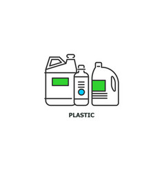 waste plastic recycle concept icon in line design vector image vector image