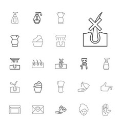 22 skin icons vector
