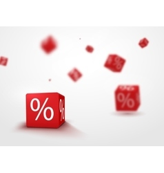 3D discount boxes dice for store market and shop vector image