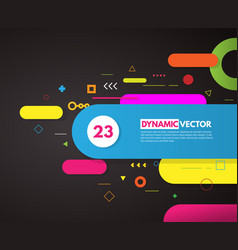 Abstract background with rounded corner shapes vector