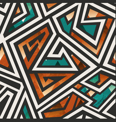African geometric seamless pattern vector