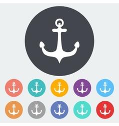 Anchor single icon vector