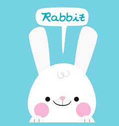 animal rabbit cartoon rabbit background ima vector image