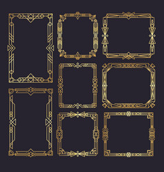 art deco frames wedding frames template 1920s vector image